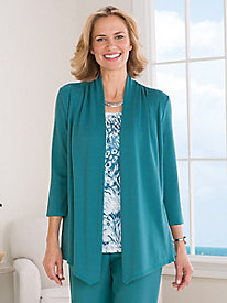 Lake Meade Two-in-One Cardigan Set by Alfred Dunner®