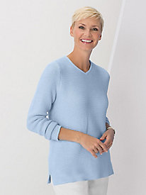 Marled Texture Pullover Sweater