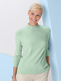Fine-Gauge Long-Sleeve Mock