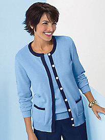 Koret Color-Tipped Cardigan