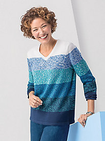 Ombré Colorblock Sweater by Koret
