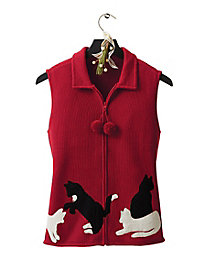 Cozy Kitty Sweater Vest