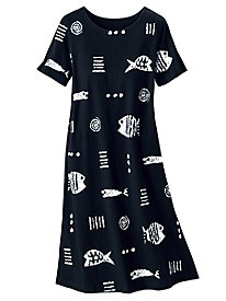 Rock Fish Print Dress by M. Mac&#174