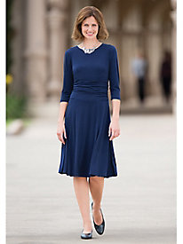 Figure-Flattering Knit Dress