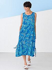 Floral Leaf Print Dress...