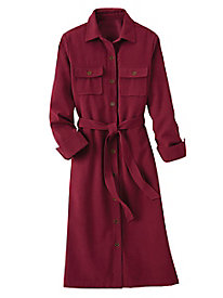 Suedecloth Shirt Dress
