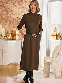 Ponte Long Sleeve Mockneck Dress