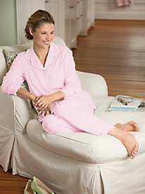 Lace-Trimmed Knit PJs