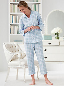Plaid Seersucker Pajamas