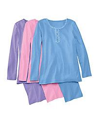 Floral Print Knit Pajamas