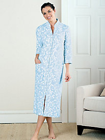 Pure Cotton Floral Print Robe