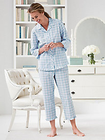 Plaid Seersucker Pajama