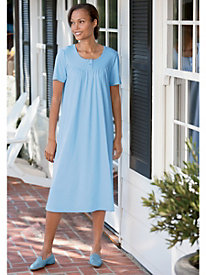Short-Sleeve Knit Gown