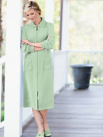 Velour Zip Front Robe