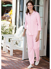Picot Edged Knit Pajamas