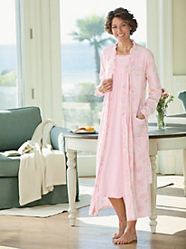 Sweet William Print Wrap Robe