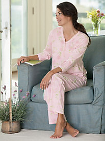 Sweet William Print Pajamas