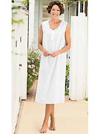 Short Sleeve Cotton Lawn Gown