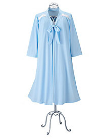 Tricot Tie-Front Robe by Koret®