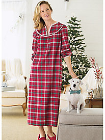 Plaid Flannel Gown