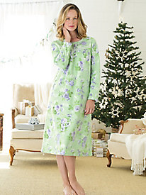 Floral Dream Fleece Gown