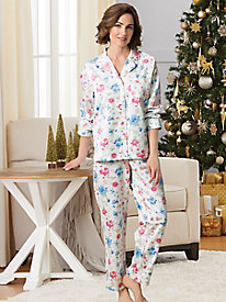 Floral Brushed Satin PJs