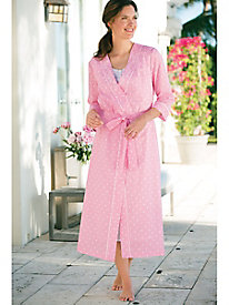 Dotted Stripe Robe