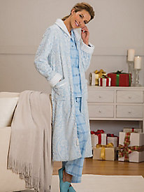 Two-Tone Damask Robe...