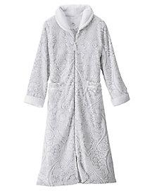 Two-Tone Damask Robe