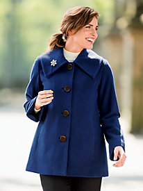A-Line Wool-Blend Coat by Donatella