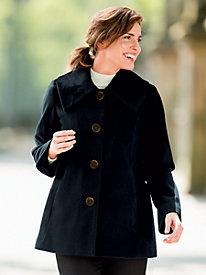 A-Line Wool-Blend Coat by Donatella