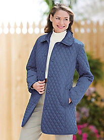 The Diamond-Quilted Car Coat