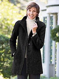 Boucle Car Coat by Anne Klein