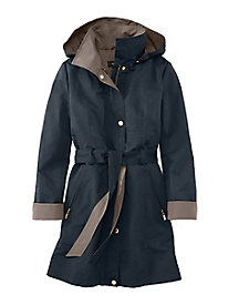 Hooded Trench by Ellen Tracy