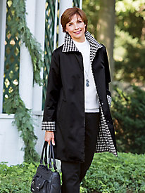 Jones New York Reversible Houndstooth Coat
