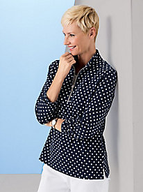 Polka Dot 1/4-Zip Topper by Koret Sport