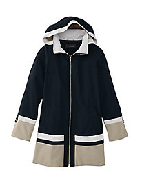 Colorblock Raincoat by Jones New York