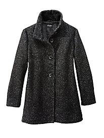 Bouclé Tweed Car coat