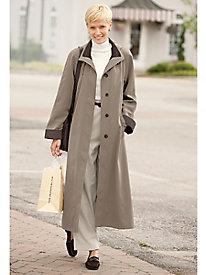Long Silk-Look Raincoat