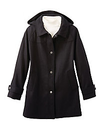 Hooded Wool Coat by Jones New York
