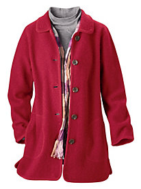 Boiled-Wool Coat