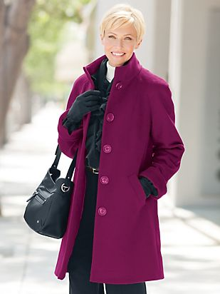 Three-Quarter Wool Coat | Women's Coat | Appleseeds