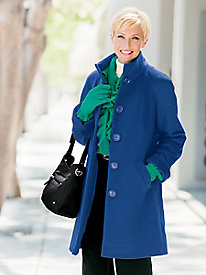 Three-Quarter Wool Coat