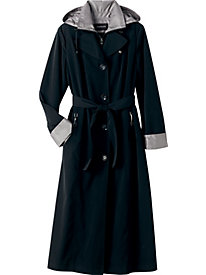 Faux-Silk Belted Trench by London Fog&#174