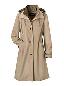 Faux-Silk Raincoat by London Fog&#174