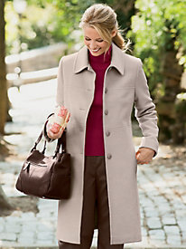 Seamed Wool Coat