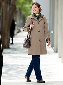 Three Quarter Silk Look Raincoat