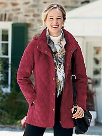 Faux Shearling Quilted Coat