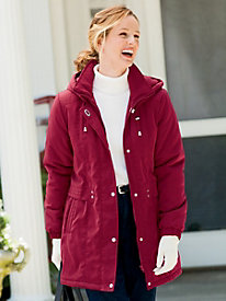 Faux-Silk Stadium Coat