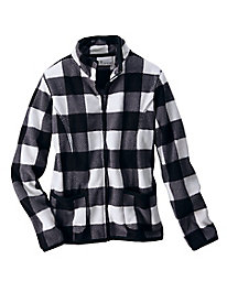 Bundle Up Plaid Fleece Jacket